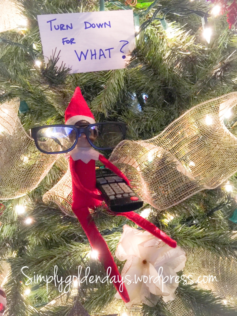 Elf on the Shelf Ideas - Turn Down For What? Song lyrics