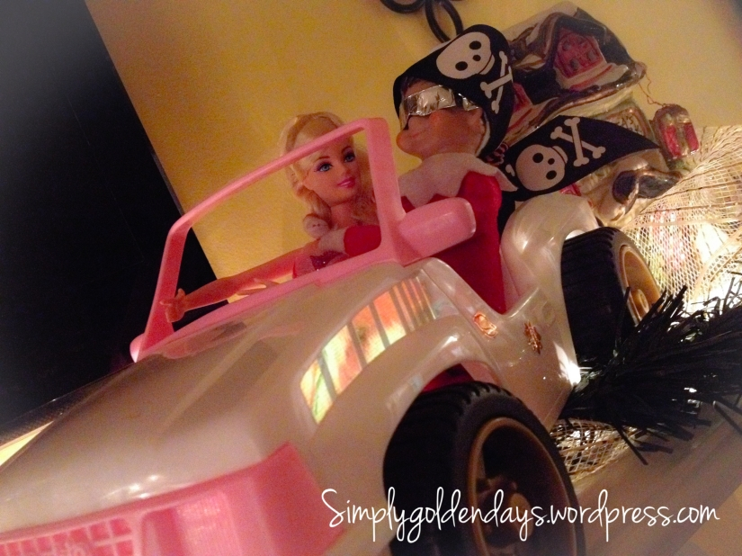 Elf on the Shelf Ideas - They see me rollin....they hatin. #ridindirty song lyrics