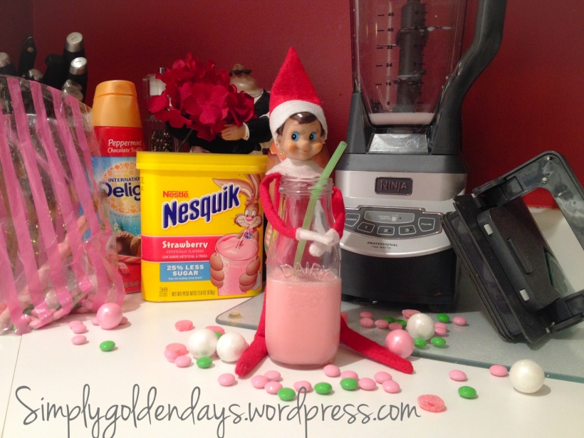 Elf on the Shelf Ideas - My milkshake brings all the elves to the yard. song lyrics